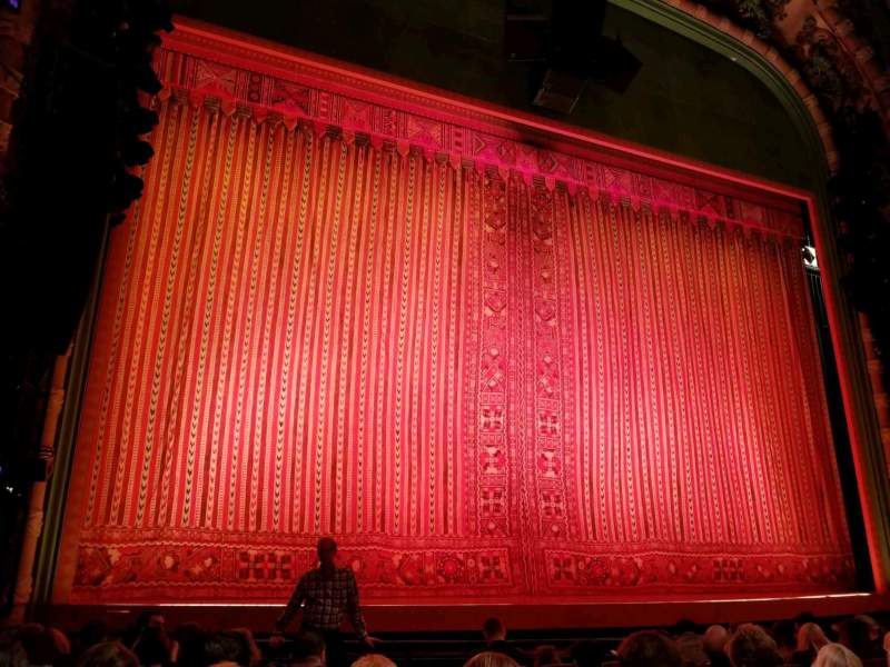 Seating view for New Amsterdam Theatre Section Orchestra L Row H Seat 3