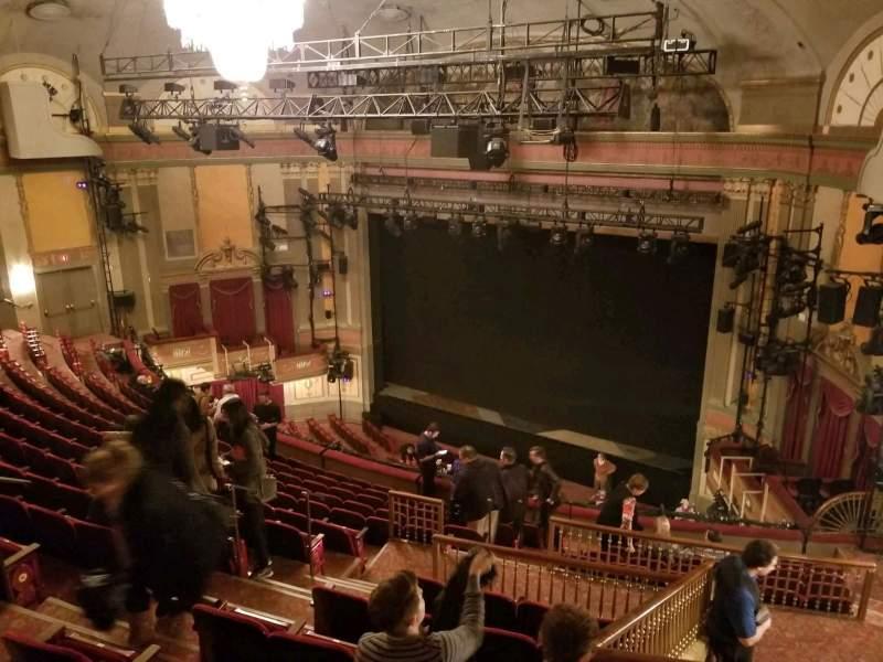 Seating view for Neil Simon Theatre Section Mezzanine-Right Row O Seat 14
