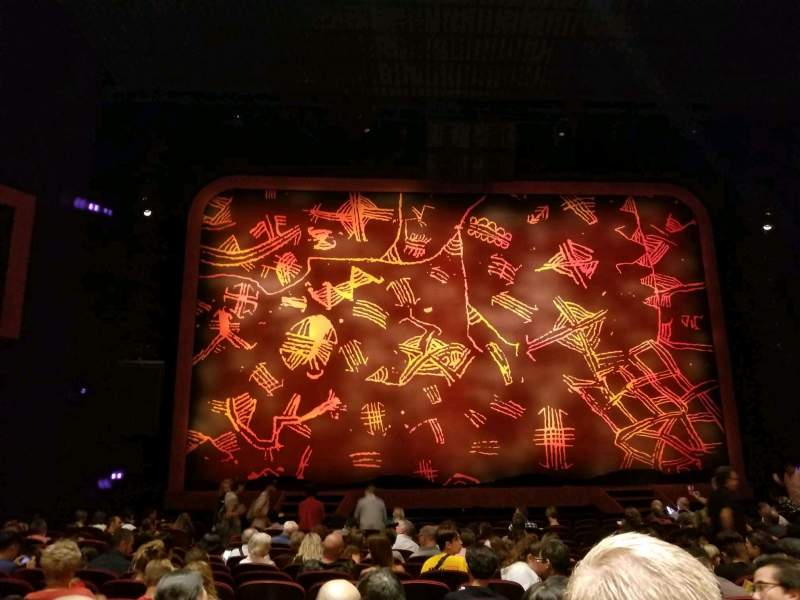 Seating view for Minskoff Theatre Section Orchestra C Row P Seat 110