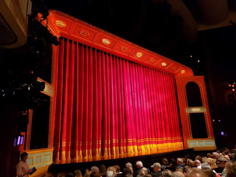 Seating view for Marquis Theatre Section Orchestra L Row J Seat 15