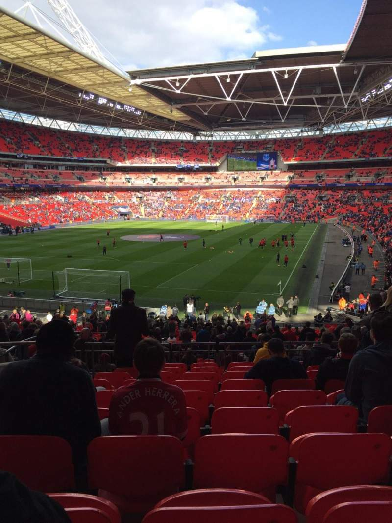 Seating view for Wembley Stadium Section 131 Row 40 Seat 241