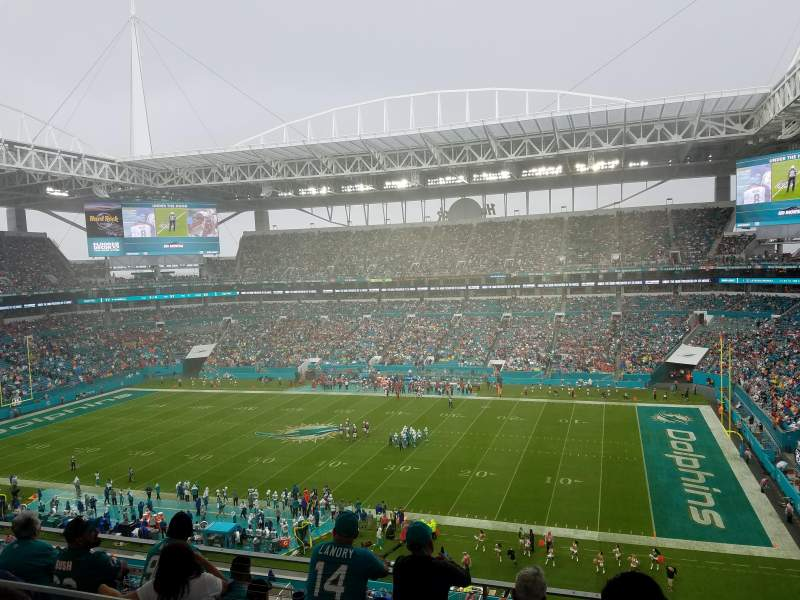 Seating view for Hard Rock Stadium Section 343 Row 7 Seat 7