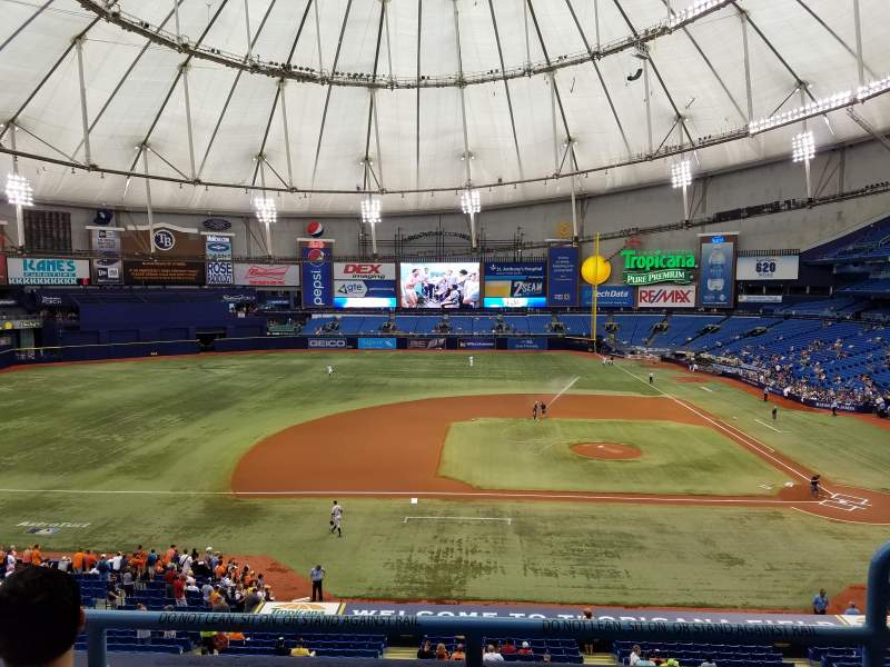Seating view for Tropicana Field Section 211 Row C Seat 18
