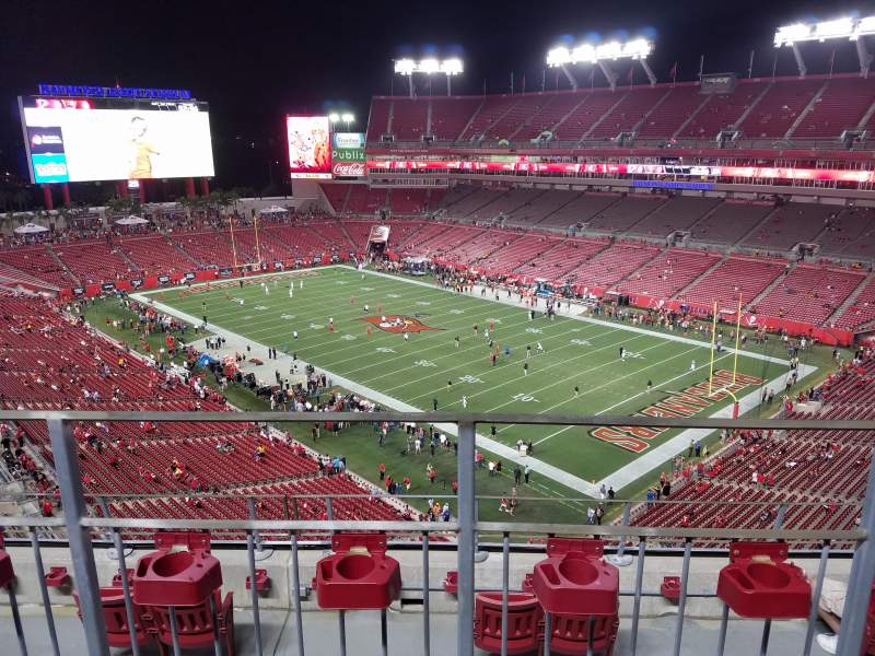Seating view for Raymond James Stadium Section 343 Row B Seat 7