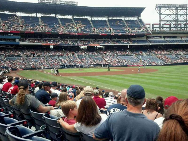 Seating view for Turner Field Section 125 Row 16 Seat 107