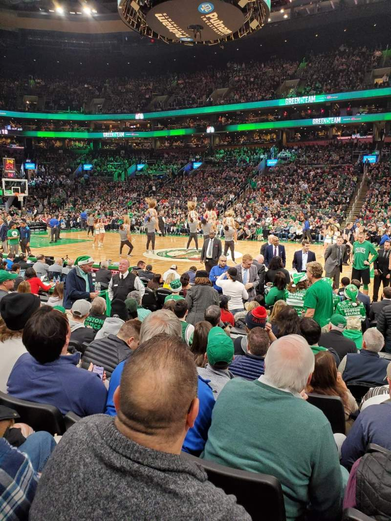 Seating view for TD Garden Section Loge 21 Row 7 Seat 12