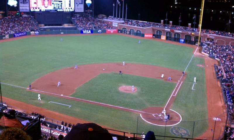 Seating view for Oracle Park Section VR319 Row 3 Seat 11