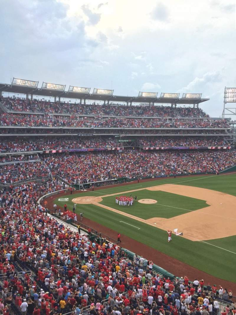 Seating view for Nationals Park Section 222 Row A Seat 9