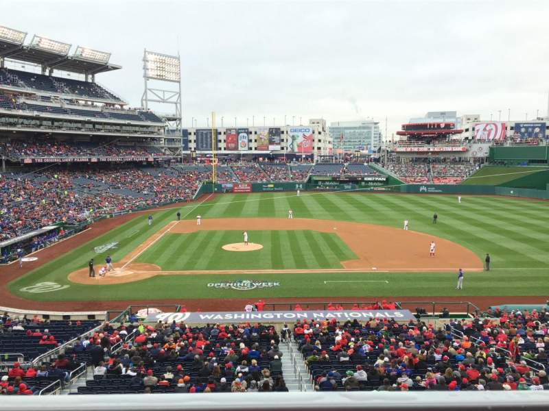 Seating view for Nationals Park Section 218 Row A Seat 5