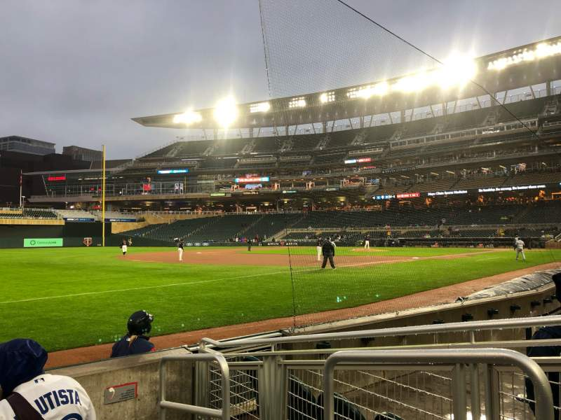 Seating view for Target Field Section 124 Row 5 Seat 1