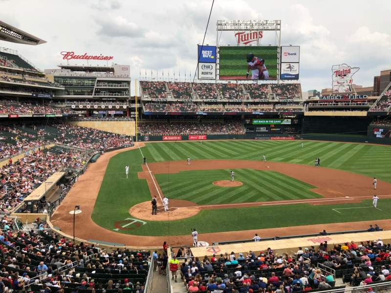 Seating view for Target Field Section E Row 1 Seat 8
