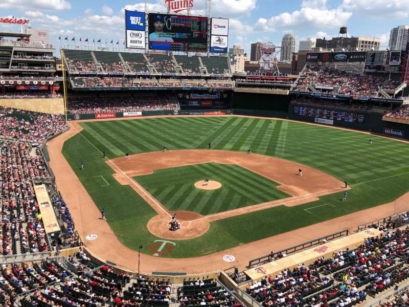 Seating view for Target Field Section 213 Row 1 Seat 13