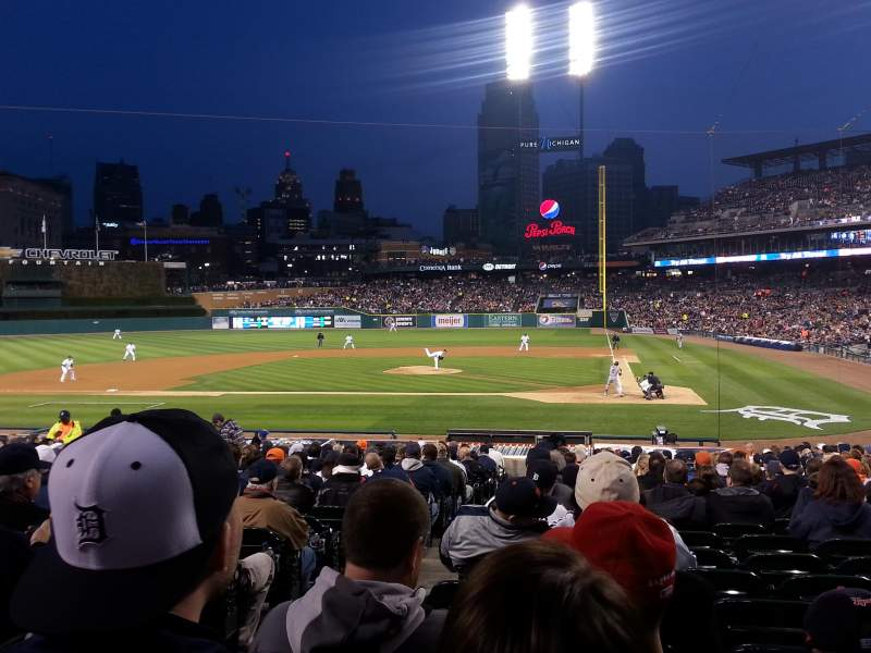 Seating view for Comerica Park Section 131 Row 26 Seat 16