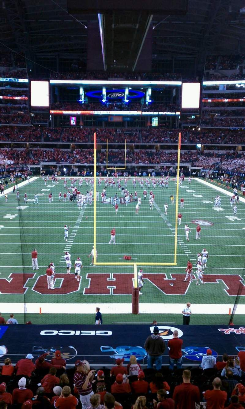 Seating view for AT&T Stadium Section 248 Row 1 Seat 3