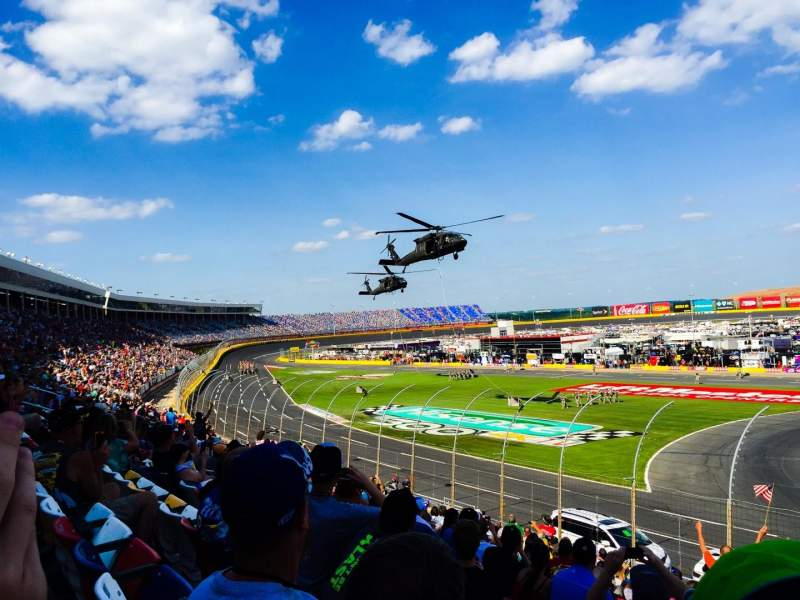 Seating view for Charlotte Motor Speedway Section GM Sec. E Row 23 Seat 18