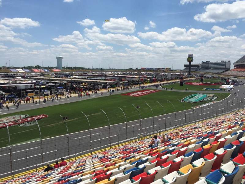 Seating view for Charlotte Motor Speedway Section CHRY Sec. E Row 30 Seat 18