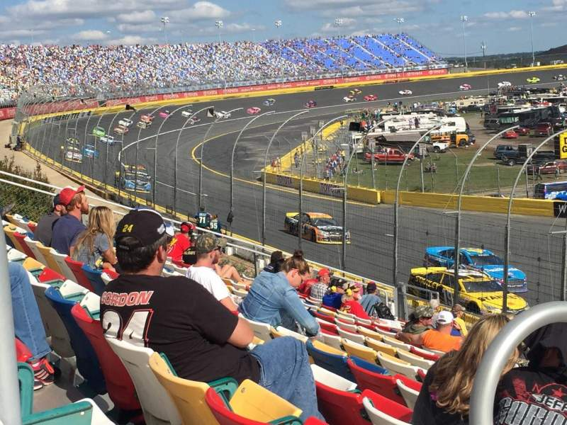Seating view for Charlotte Motor Speedway Section CHRY Sec J Row 27 Seat 21