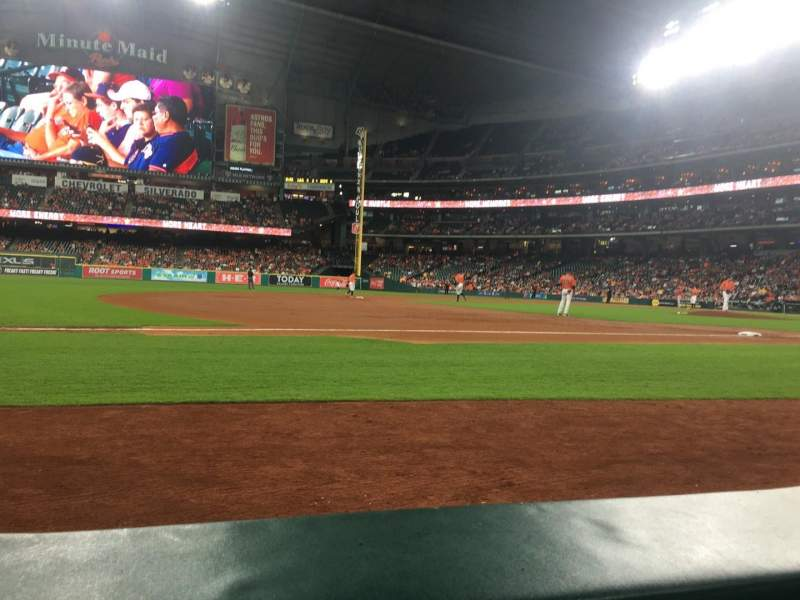 Seating view for Minute Maid Park Section 111 Row 1 Seat 1