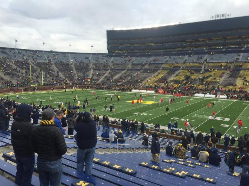Seating view for Michigan Stadium Section 20 Row 36 Seat 2