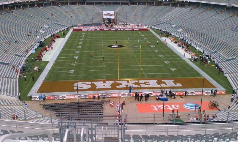Seating view for Cotton Bowl Section 117 Row 23 Seat 31