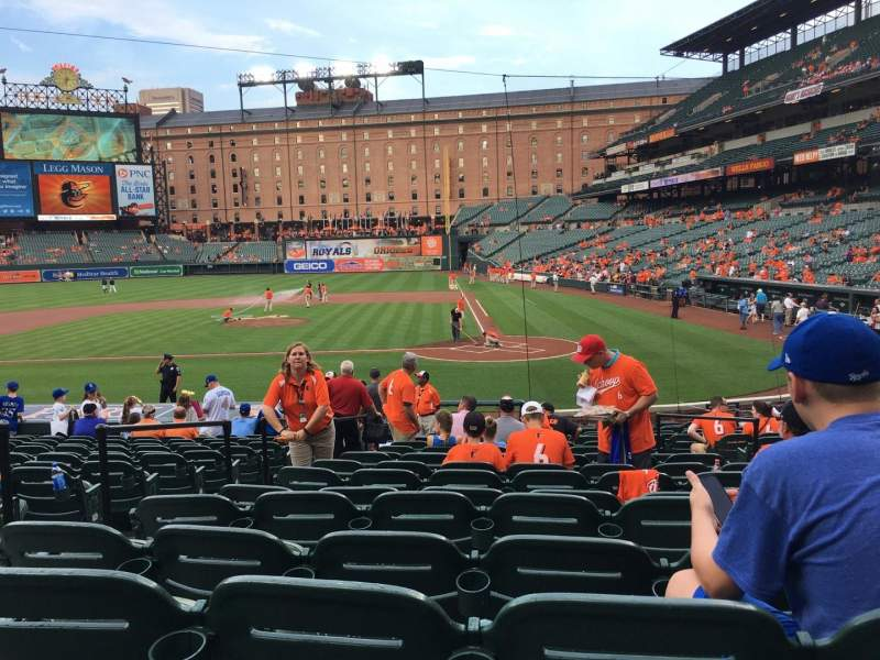 Seating view for Oriole Park at Camden Yards Section 46 Row C Seat 6