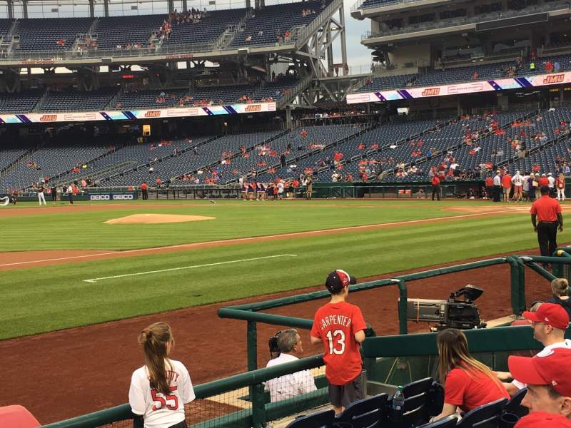 Seating view for Nationals Park Section 115 Row F Seat 18