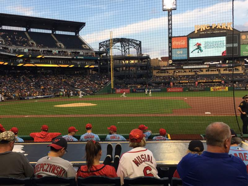Seating view for PNC Park Section 10 Row K Seat 9