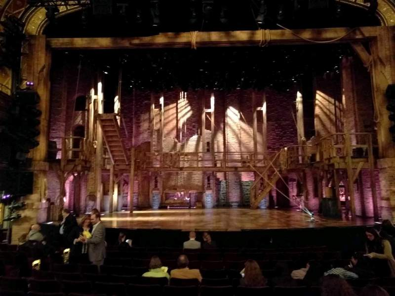 Seating view for Richard Rodgers Theatre Section Orchestra Row L Seat 107