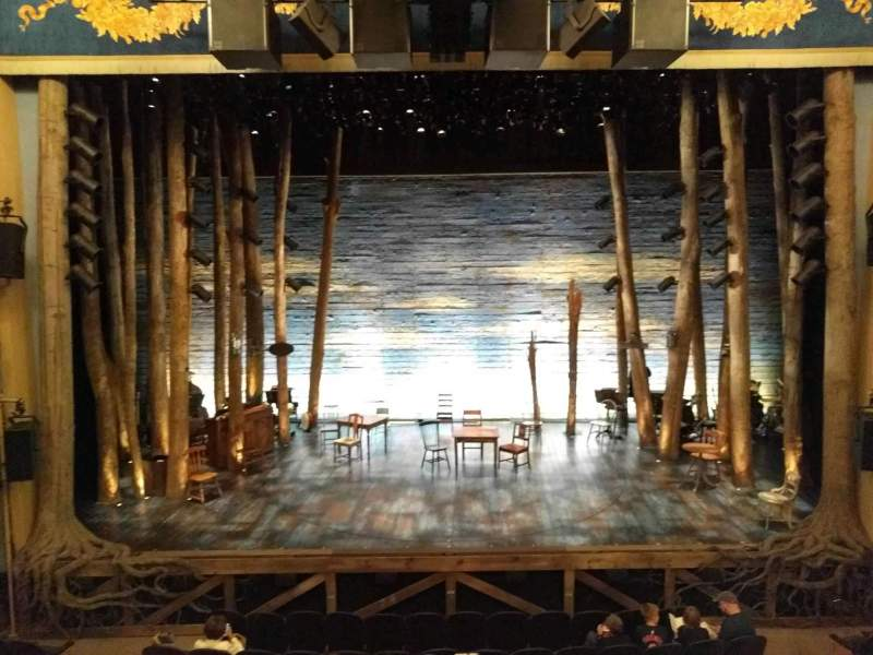 Seating view for Gerald Schoenfeld Theatre Section Mezzanine C Row A Seat 107