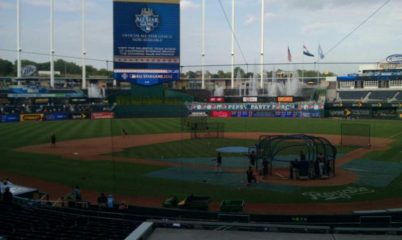 Seating view for Kauffman Stadium Section A