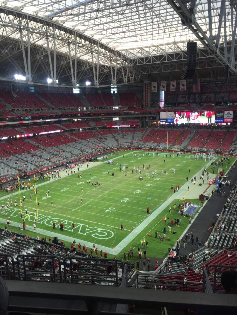 Seating view for University of Phoenix Stadium Section 454 Row 1 Seat 15