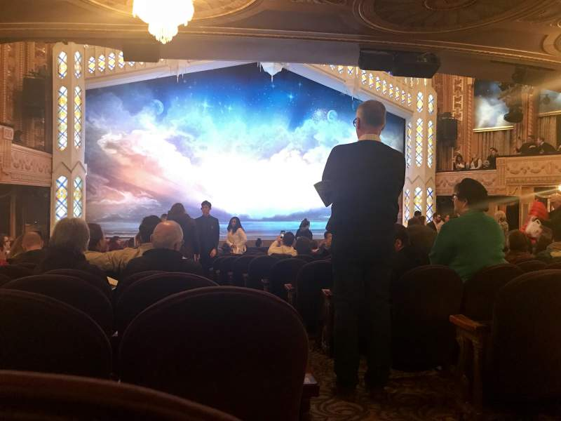 Seating view for Eugene O'Neill Theatre Section Orchestra L Row R Seat 1