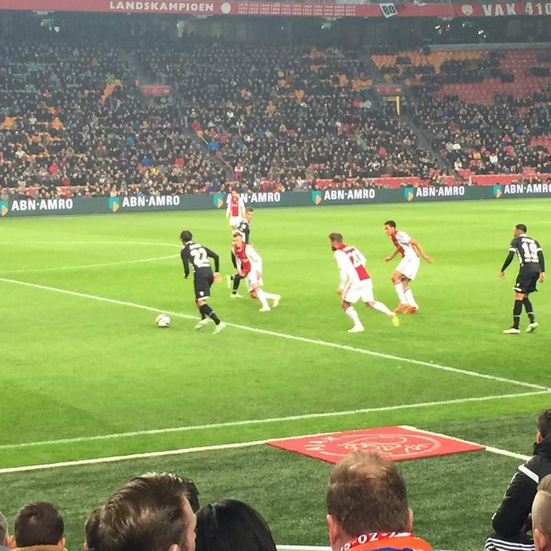 Seating view for Amsterdam ArenA Section 106 Row 3 Seat 176