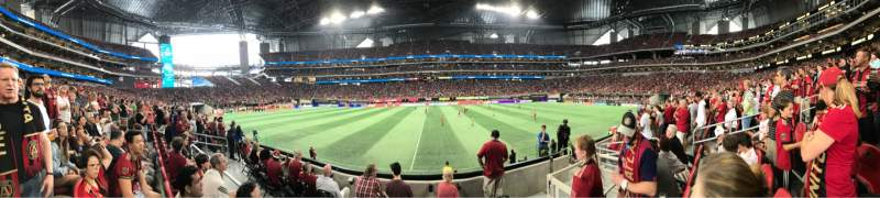 Seating view for Mercedes-Benz Stadium Section C128 Row 5 Seat 8