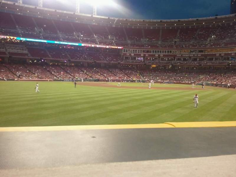 Seating view for Great American Ball Park Section 102 Row a Seat 7