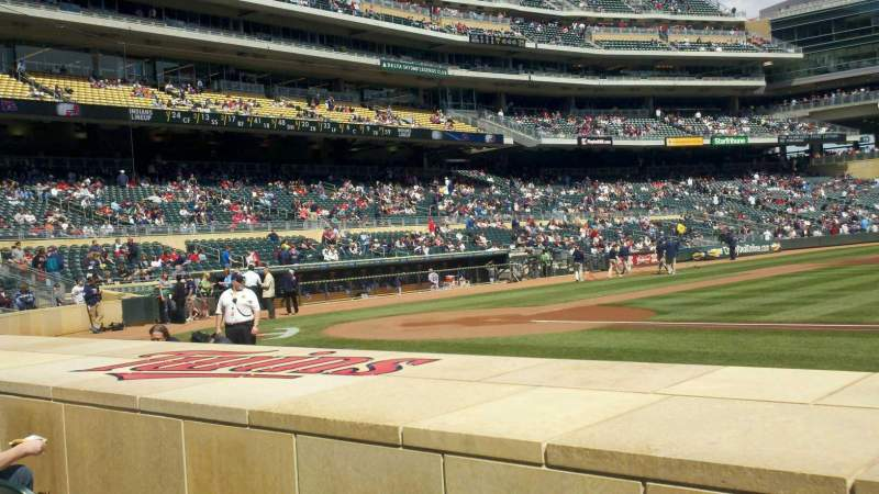Seating view for Target Field Section 5 Row 7 Seat 1