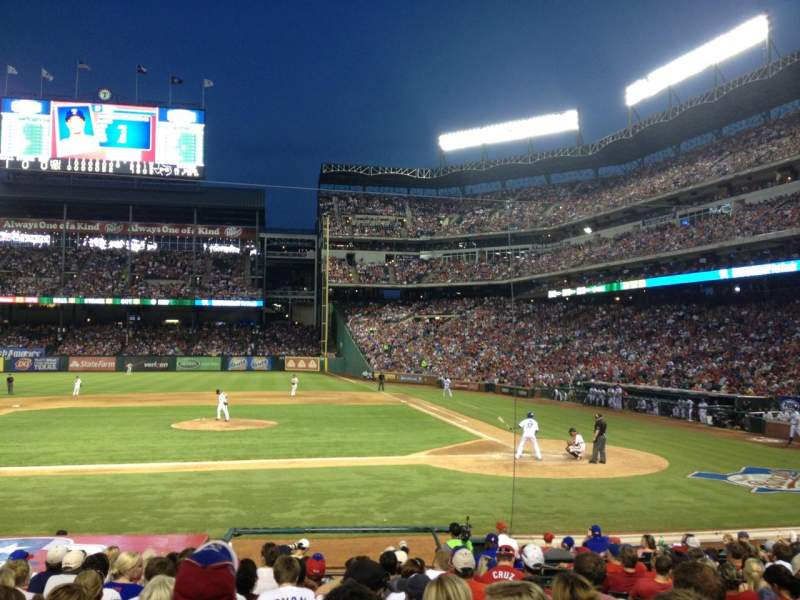 Seating view for Globe Life Park in Arlington Section 20 Row 15 Seat 13