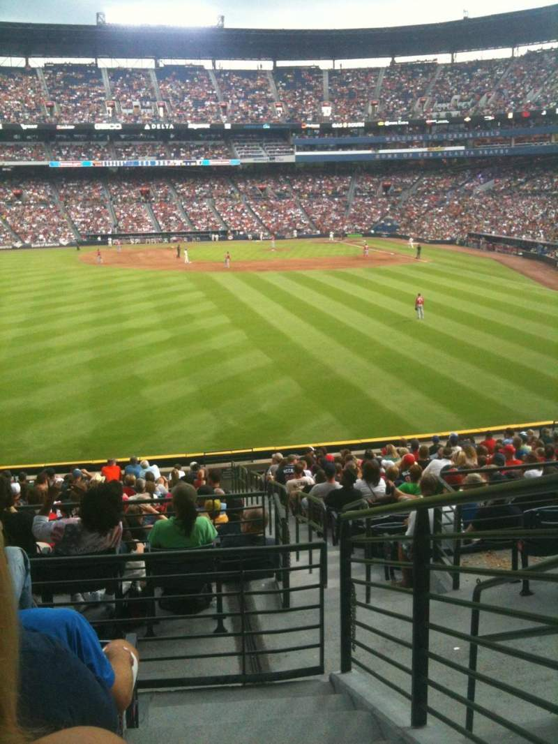 Seating view for Turner Field Section 240L Row 5 Seat 103