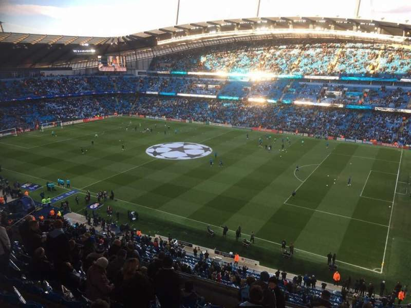 Seating view for Etihad Stadium (Manchester) Section 323 Row M Seat 636