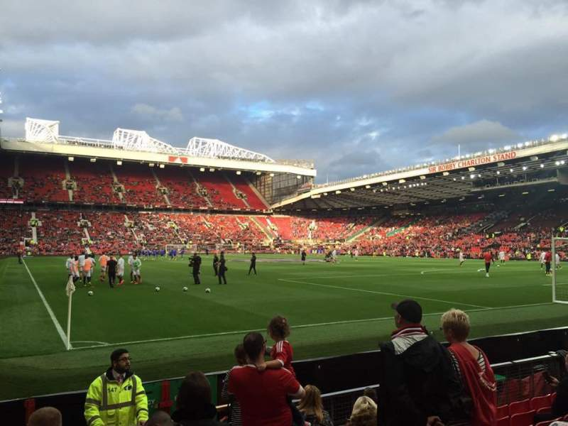 Seating view for Old Trafford Section 101 Row JJ Seat 180