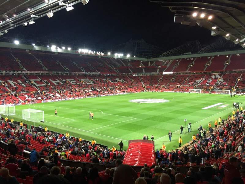 Seating view for Old Trafford Section W210 Row 21 Seat 65