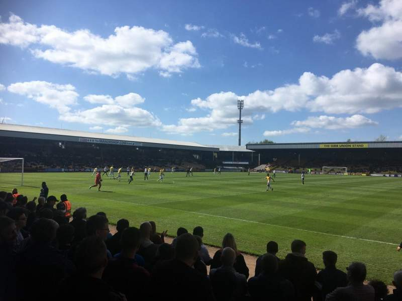 Seating view for Vale Park Section HHF1 Row G Seat 13