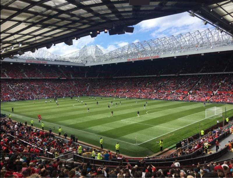 Seating view for Old Trafford Section E230 Row 22 Seat 60