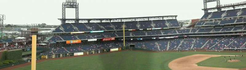 Seating view for Citizens Bank Park Section 434 Row 2 Seat 16-17