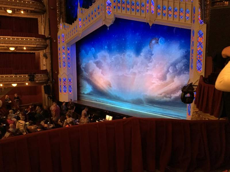 Seating view for PrivateBank Theatre Section DCRBX2 Row BX2 Seat 214