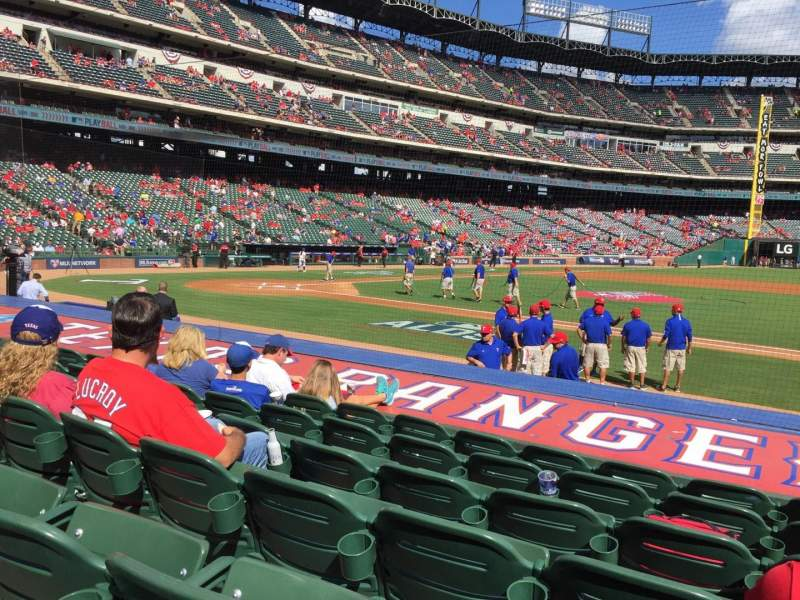 Seating view for Globe Life Park in Arlington Section 33 Row 9 Seat 15
