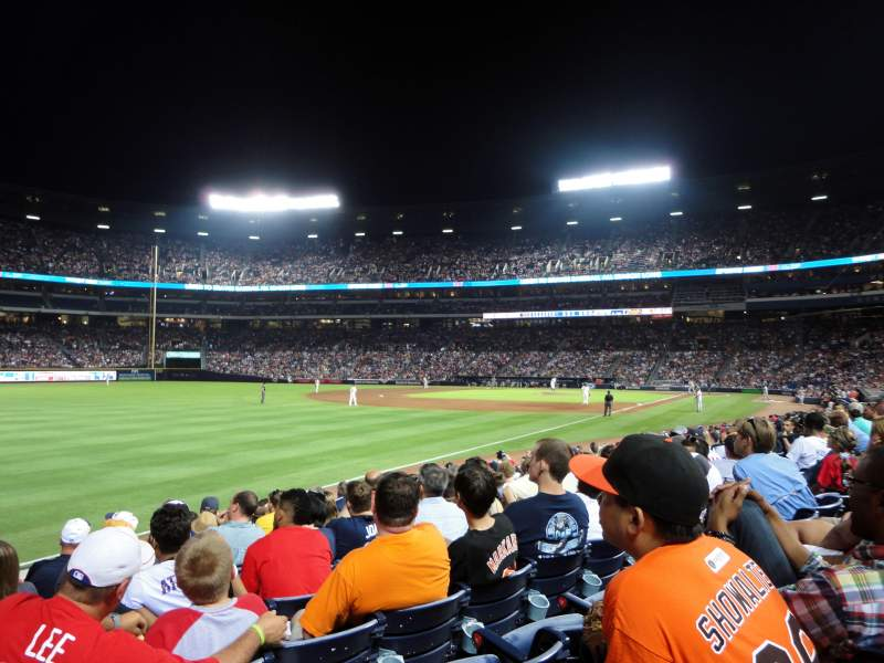 Seating view for Turner Field Section 126R Row 14 Seat 7