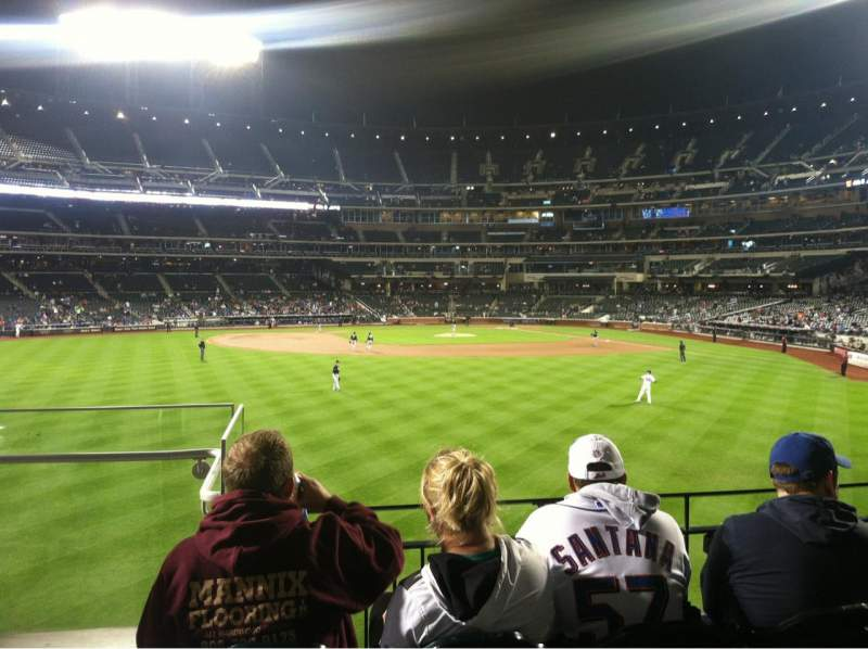 Seating view for Citi Field Section 136 Row 4 Seat 24
