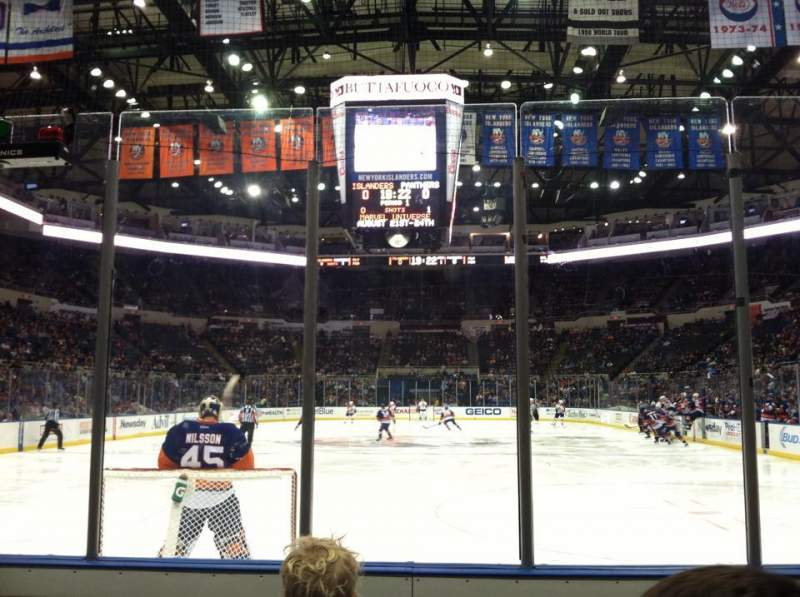 Seating view for Old Nassau Veterans Memorial Coliseum Section 122 Row 3 Seat 1