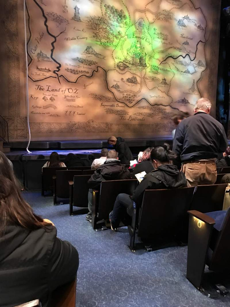 Seating view for Gershwin Theatre Section Orchestra L Row D Seat 1